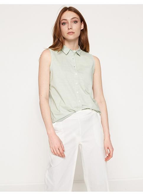 Koton Kolsuz Gömlek Yeşil